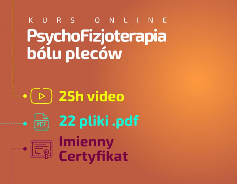 Psychofizjoterapia bólu pleców kurs online